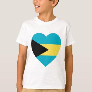 Bahamas Flag Heart T-Shirt
