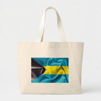Bahamas Flag Large Tote Bag