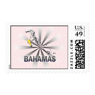 Bahamas Flag Map 2.0 Stamp