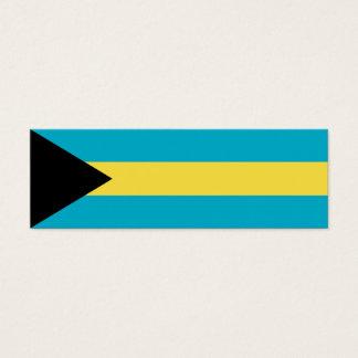 Bahamas Flag Mini Business Card