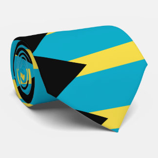 Bahamas flag neck tie