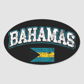 Bahamas Flag Oval Sticker