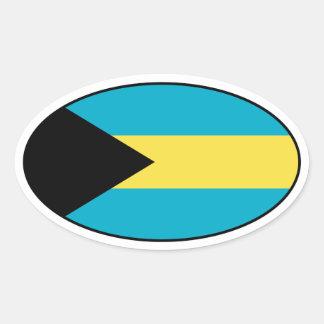 Bahamas Flag Oval Sticker