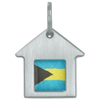 BAHAMAS FLAG PET ID TAG