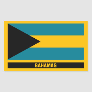 Bahamas Flag Rectangular Sticker