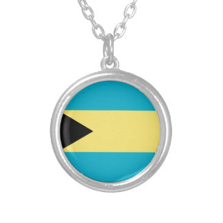 Bahamas Flag Silver Plated Necklace