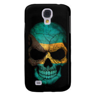 Bahamas Flag Skull on Black Galaxy S4 Cover