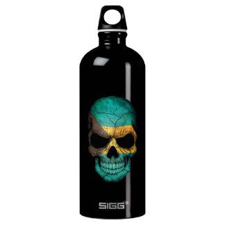 Bahamas Flag Skull Water Bottle