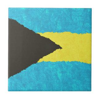 BAHAMAS FLAG SMALL SQUARE TILE