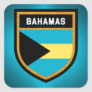 Bahamas Flag Square Sticker