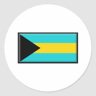 Bahamas Flag Classic Round Sticker