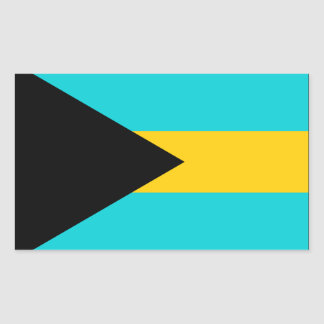 Bahamas Flag Rectangular Sticker