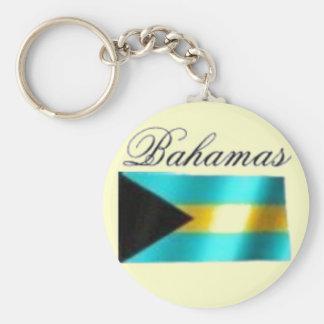 Bahamas Flag T-shirt And Etc Basic Round Button Keychain