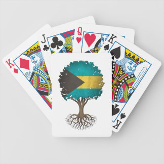 Bahamas Flag Tree of Life Customizable Bicycle Playing Cards