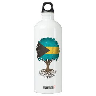 Bahamas Flag Tree of Life Customizable Water Bottle