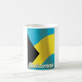 Bahamas Flag vintage travel poster Coffee Mug