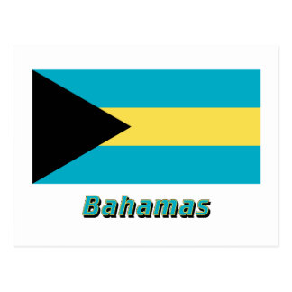 Bahamas Flag with Name Post Cards