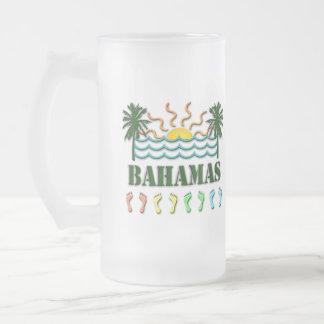 Bahamas Frosted Glass Beer Mug