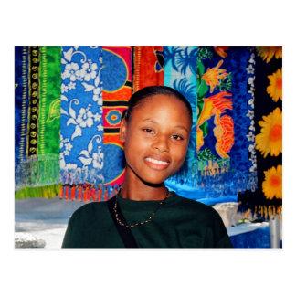 Bahamas girl postcard
