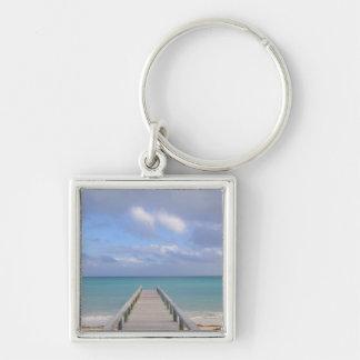 BAHAMAS, Grand Bahama Island, Eastern Side: Silver-Colored Square Keychain