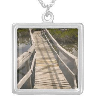BAHAMAS, Grand Bahama Island, Eastern Side: Silver Plated Necklace