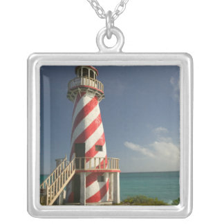 BAHAMAS, Grand Bahama Island, Eastern Side: Town Silver Plated Necklace