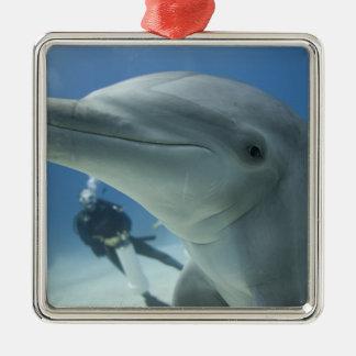 Bahamas, Grand Bahama Island, Freeport, Scuba 2 Metal Ornament
