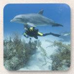 Bahamas, Grand Bahama Island, Freeport, Scuba Beverage Coaster