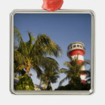 Bahamas, Grand Bahama Island, Freeport, Setting Christmas Ornament