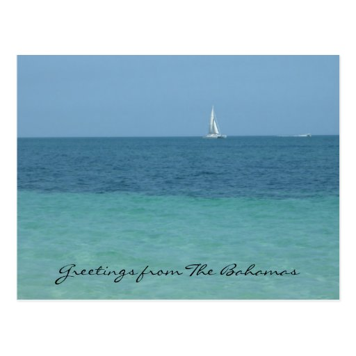 bahamas greetings post card