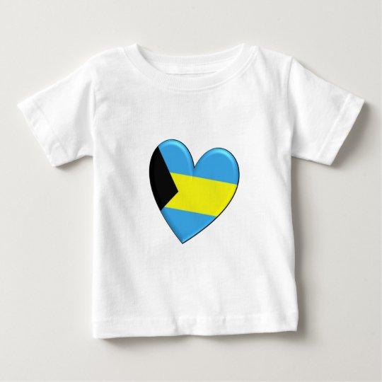 Bahamas Heart Flag Baby T-Shirt