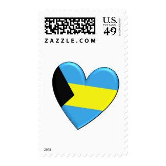 Bahamas Heart Flag Postage