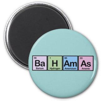 Bahamas hicieron de elementos imán redondo 5 cm