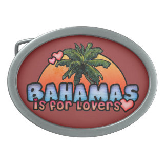 Bahamas is for lovers oval belt buckle