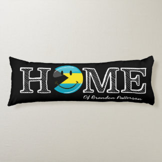 Bahamas is Home Smiling Flag House Warmer Body Pillow