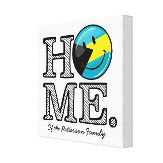 Bahamas is Home Smiling Flag House Warmer Canvas Print