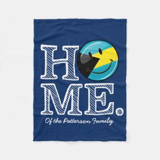 Bahamas is Home Smiling Flag House Warmer Fleece Blanket