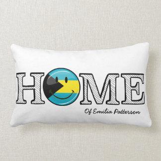 Bahamas is Home Smiling Flag House Warmer Lumbar Pillow