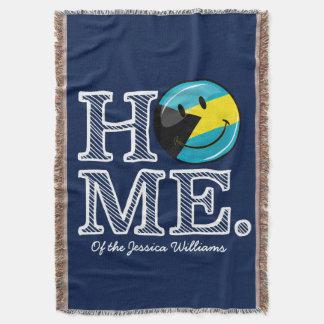 Bahamas is Home Smiling Flag House Warmer Throw Blanket