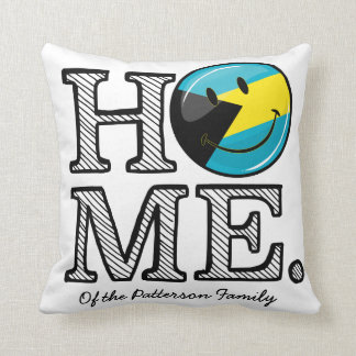 Bahamas is Home Smiling Flag House Warmer Throw Pillow