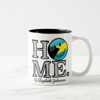 Bahamas is Home Smiling Flag House Warmer Two-Tone Coffee Mug