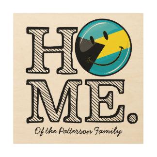 Bahamas is Home Smiling Flag House Warmer Wood Print