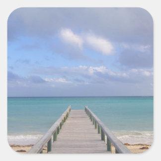 BAHAMAS isla de Bahama magnífica lado del este Calcomanía Cuadradase