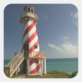 BAHAMAS, isla de Bahama magnífica, lado del este: Pegatina Cuadrada