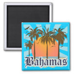 Bahamas Islands Beaches 2 Inch Square Magnet