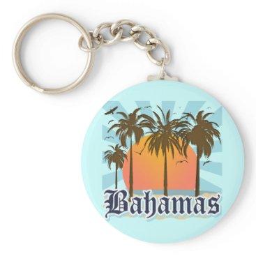 Beach Themed Bahamas Islands Beaches Keychain