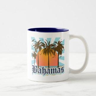 Bahamas Islands Beaches Two-Tone Coffee Mug