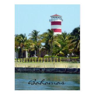 bahamas light house postcard