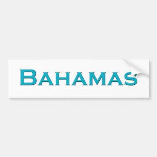 Bahamas (logotipo del texto) pegatina de parachoque