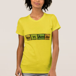 Women's American Apparel Fine Jersey Short Sleeve T-Shirt with Bahamas design